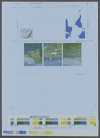 Falklandinseln: 1984, Printers Color Progressive Proof In Blue, Yellow And Green, For The 1984 (1st - Falklandinseln