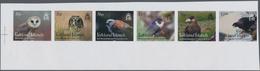 Falklandinseln: 2016, Birds Of Prey, IMPERFORATE Proof Strip Of Six, Mint Never Hinged. - Falklandinseln