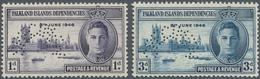 Falklandinseln - Abhängige Gebiete - Allgemeine Ausgabe: 1946, Victory Issue Perforated 'SPECIMEN' C - Falklandinseln