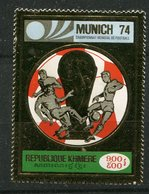 Khmère **   N° 31C - Coupe Du Monde De Foot 1974 Impression Sur Or - Laos