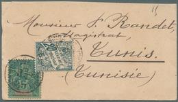 Französisch-Guinea: 1902. Small Lady's Envelope (top Shortened) Addressed To Tunisia, North Africa B - Zonder Classificatie