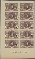 Französisch-Guinea: 1906/1907, Definitives, 2c. Lilac-brown/red, Imperforate Essay, Marginal Imprint - Zonder Classificatie