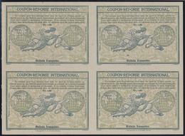 "Französisch-Guinea: Design ""Madrid"" 1920 International Reply Coupon As Block Of Four 1,30 Fr.Guinee - Frans Guinee (1892-1944)"