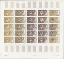 Französische Gebiete In Der Antarktis: 1965. Complete Sheet Of 25 Essays Including 8 Multicoloured. - Französische Süd- Und Antarktisgebiete (TAAF)