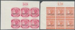 Jamaica: 1872 (ca.), QV Definitives Four Different Stamps Incl. ½d. Claret, 1d. Blue, 2d. Rose And 4 - Jamaica (1962-...)