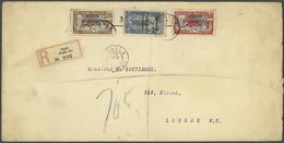Kamerun: 1916 Registered Letter From Duala Franked With 10 Cent. Carmin/blue, 20 Cent. Brown/blue An - Kamerun (1960-...)