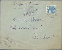 "Kamerun: 1929 BISECTED 1 FRANC Cancelled By ""NYOMBÉ 14. JANV. 29"" Cds On Cover To Bonaberi. Manuscri - Kamerun (1960-...)"