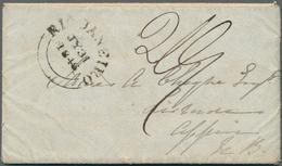 "Kap Verde: 1846, Entire Letter (envelope With 8 Pages), Written 3 Jul 1846 ""off The Cape Verde Islan - Kaapverdische Eilanden"