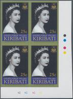 Kiribati (Gilbert-Inseln): 2002, Golden Jubilee Of QEII 25c. Block Of Four From Lower Right Corner W - Kiribati (1979-...)