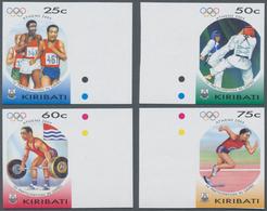 Kiribati (Gilbert-Inseln): 2004, Summer Olympics Athens Complete IMPERFORATE Set Of Four From Right - Kiribati (1979-...)