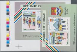Kiribati (Gilbert-Inseln): 2004, 25th Anniversary Of Independence Perforate And IMPERFORATE (wide Ma - Kiribati (1979-...)