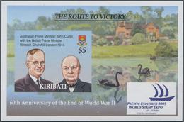 Kiribati (Gilbert-Inseln): 2005, 60 Years End Of WWII Complete Set Of Ten With Different War Scenes - Kiribati (1979-...)