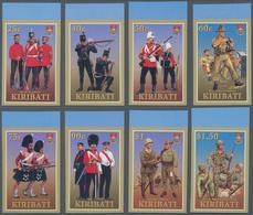 Kiribati (Gilbert-Inseln): 2007, Military Uniforms Complete IMPERFORATE Set Of Eight From Upper Marg - Kiribati (1979-...)
