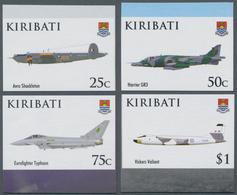Kiribati (Gilbert-Inseln): 2008, 90th Anniversary Of Royal Air Force (RAF) Complete IMPERFORATE Set - Kiribati (1979-...)