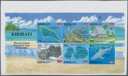 Kiribati (Gilbert-Inseln): 2008, Phoenix Island Protected Area IMPERFORATE Miniature Sheet (Map, Pho - Kiribati (1979-...)