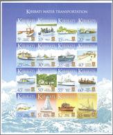 Kiribati (Gilbert-Inseln): 2013, Definitive Issue 'Ships' Complete Set Of 16 In An IMPERFORATE Sheet - Kiribati (1979-...)