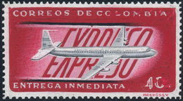 "Kolumbien: 1963, ""ARTWORK"" Very Scarce Handpainted ESSAY (stampsized) For A 40 C. Airmail-Express-St - Kolumbien"