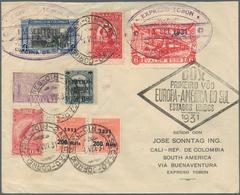 Kolumbien - Eilmarken: 1931 EXPRESO TOBON: DOX Cover From Rio De Janeiro To Cali, Colombia Via Buena - Kolumbien