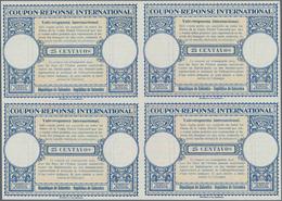 Kolumbien - Ganzsachen: 1947. International Reply Coupon 25 Centavos (London Type) In An Unused Bloc - Kolumbien