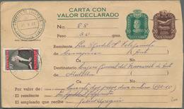 Kolumbien - Ganzsachen: 1961 Postal Stationery Registered Envelope 10+20c. (two Stamps) Used From Co - Kolumbien