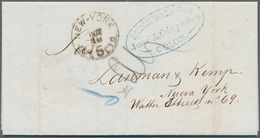 Kolumbien - Stempel: 1875 (July 15), Entire Letter Sent From Bucaramanga To New York With Two Blue O - Kolumbien
