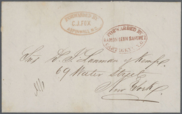 Kolumbien - Besonderheiten: 1858, FORWARDED MAIL: Entire From Barranquilla To New York, Forwarded By - Kolumbien