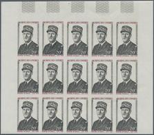 Komoren: 1971, General De Gaulle Complete Set Of Two In IMPERFORATE Blocks Of 15 From Upper Right Co - Komoren (1975-...)