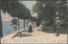 Promenade On Lake Front, Polytechnic Chalets, Lucerne, 1905 - Postcard - LU Luzern