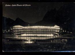 C1147 CORTINA D'AMPEZZO - STADIO OLIMPICO DEL GHIACCO B\N VG 1956 - Altre Città