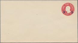 Panama-Kanalzone: 1934 Unused And Revalued Postal Stationery Envelope 3 Cents Blackviolet On 2 Cents - Panama