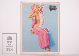 Pin-up Girl By Earl Moran, 'Sheer Beauty' - Calendar Original Print - Printed By Haines - 17,5 X 23,5 Cm - Other