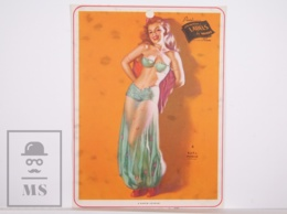 Pin-up Girl By Earl Moran, 'A Harem - Scarum' - Calendar Original Print - Printed By Haines - 17,5 X 23,5 Cm - Other
