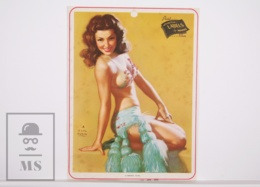 Pin-up Girl By Earl Moran, 'A Model Girl' - Calendar Original Print - Printed By Haines - 17,5 X 23,5 Cm - Other