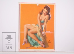 Pin-up Girl By Earl Moran, 'Feature Attraction' - Calendar Original Print - Printed By Haines - 17,5 X 23,5 Cm - Other