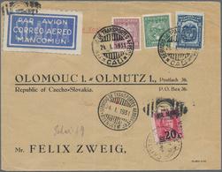 SCADTA - Ausgaben Für Kolumbien: 1931, 10 C Red-brown And 15 C Green Airmail Stamps And Colombia 8 C - Kolumbien