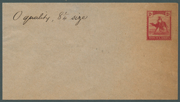 """Sudan: 1898, Postal Stationery Essay, 2 C. Red Camel With Inscription """"STATE OF N.AFRICA"""" At Bottom - Sudan (1954-...)"""