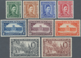 Sudan: 1931-35 Three Complete Sets Including 1935 'General Gordon' Set To 50pi., And The Two Airmail - Sudan (1954-...)
