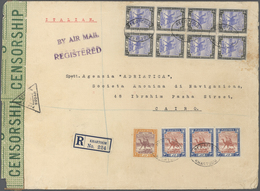 Sudan: 1940. Registered Air Mail Envelope Addressed To Cairo Bearing Sudan SG 44, 2p Purple And Oran - Sudan (1954-...)