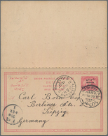 Sudan - Ganzsachen: 1899/1907: Three Different Postal Stationery Cards Used, With 1899 Card 4m. On 5 - Sudan (1954-...)