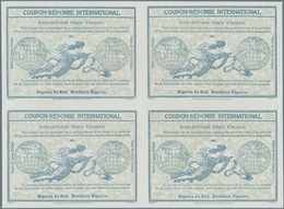 Süd-Nigeria: 1911. International Reply Coupon 3d (Rom Type) In An Unused Block Of 4. Luxury Quality. - Nigeria (...-1960)