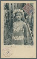 Tahiti: 1908. Picture Post Card Written From Raiatea Dated '15th Nov 08' Of 'Tetuanni De Bora Bora' - Tahiti