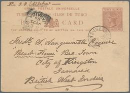 Turks- Und Caicos-Inseln: 1889, Penny Half Penny Brown Postal Stationery Card Tied By Circle Cancel - Turks & Caicos