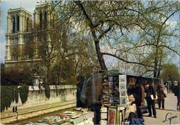Paris - Notre-Dame Et Les Bouquinistes - Traveled 1973. - Notre Dame Von Paris