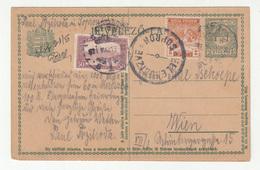 Hungary Postal Stationery Postcard Travelled 1921 To Wien Censored Ellenorizve Sopron D B190601 - Interi Postali