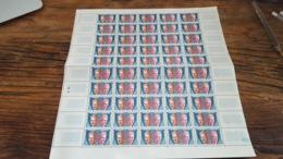 LOT 455967 TIMBRE DE FRANCE NEUF** LUXE N°26 SERVICE VALEUR 75 EUROS FEUILLE - Feuilles Complètes