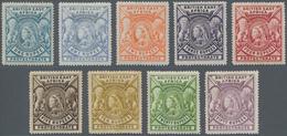 Britisch-Ostafrika Und Uganda: 1897-1903 QV Complete Set Of Eight Rupee Values Plus A Different Shad - Kenya, Uganda & Tanganyika
