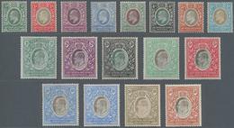 Britisch-Ostafrika Und Uganda: 1903-04 KEVII. Complete Set Plus 10r. On Chalk-surfaced Paper, Wmk Cr - Kenya, Uganda & Tanganyika