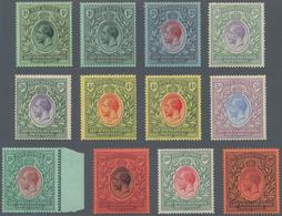 Britisch-Ostafrika Und Uganda: 1912-21 KGV. Set Of 32 Mint Stamps Including Almost All Listed Colour - Kenya, Uganda & Tanganyika