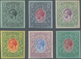 Britisch-Ostafrika Und Uganda: 1912-21 KGV. PLATE PROOFS Of Six Rupee Values (1r.-10r.), Imperf, Wat - Kenya, Uganda & Tanganyika