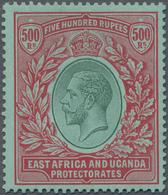 Britisch-Ostafrika Und Uganda: 1912 Kenya, Uganda & Tanganyika: KGV. 500r. Green & Red On Green, Min - Kenya, Uganda & Tanganyika